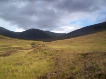 Ascending the Strathfarrar ridge