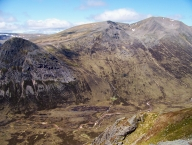 Corrour bothy sits at the feet of the Devil's Point and Cairn Toul