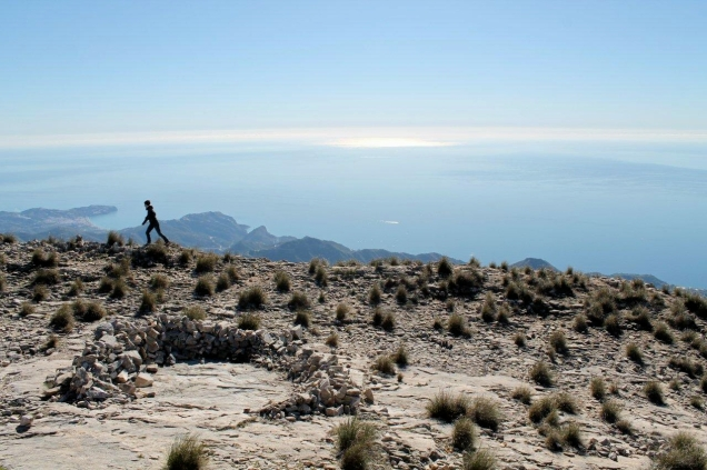 On the summit of Cielo, in the Sierra Alpijara