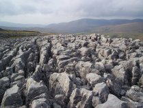 Limestone clints on Wild Boar Fell