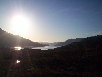Dawn from the Cluanie ridge