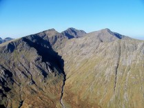 The mass of Bidean nam Bian from Buachaille Etive Beag