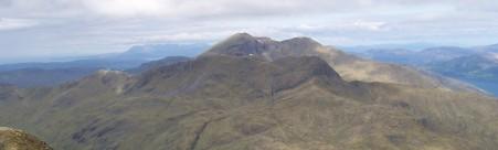 Ladhar Bheinn and the Aonach Sgoilte ridge