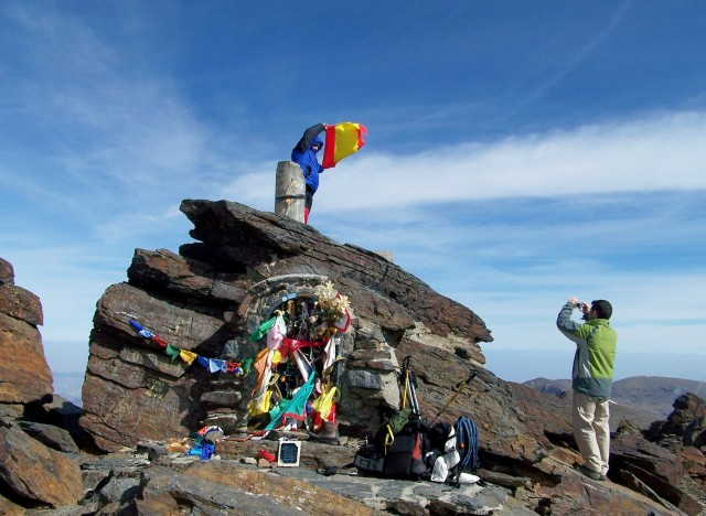 The summit of Mulhacen, the highest mountain in Spain