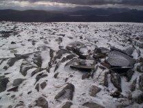 Powdery snow on Stob a' Choire Mheadhoin