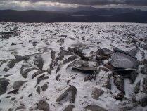 Powdery snow on Stob a??? Choire Mheadhoin
