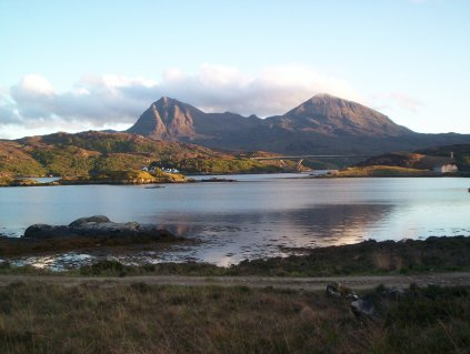 Quinag in the evening