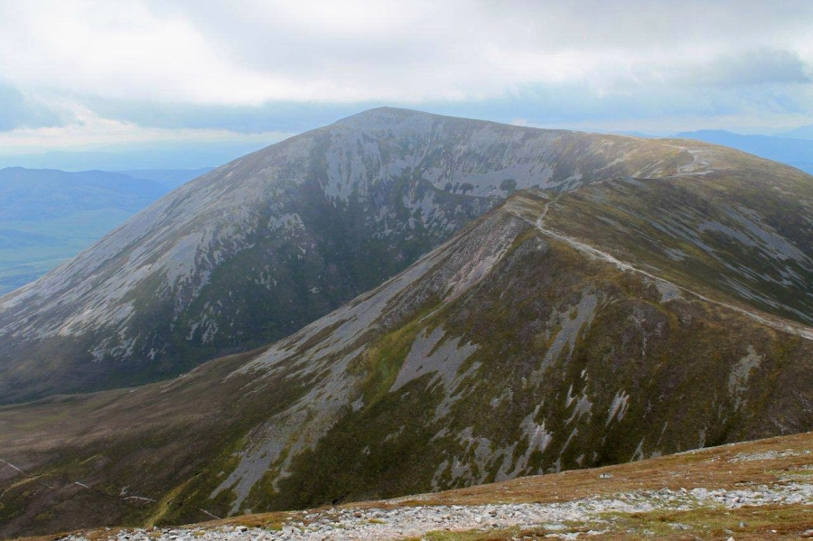 Looking back along the ridge to Carn Liath