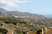 Frigiliana sits on the edge of the sierra, above Nerja and the sea