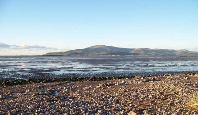 Black Combe provides a backdrop to Millom and the Duddon