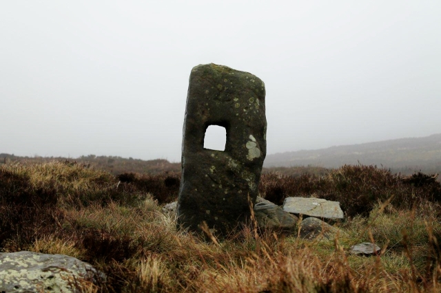 Stone marker on the top of Noon Hill