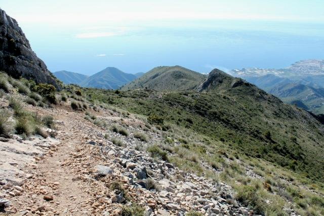 Cuesta del Cielo, Cielo's southern ridge