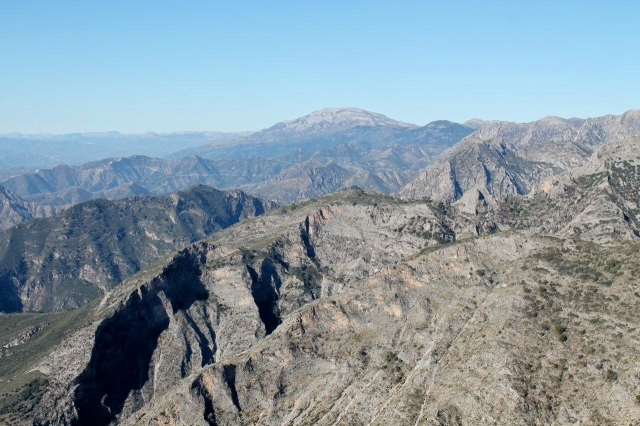 La Maroma in the far distance, the highest peak in the Sierra Tejeda y Almijara
