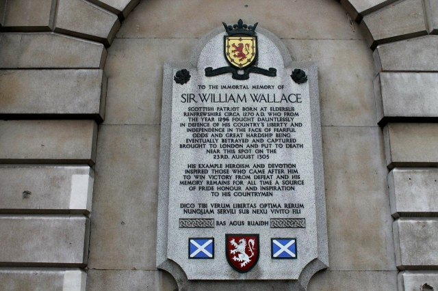 And outside St Bart's Hospital is the place where William Wallace was hung, drawn and quartered. There seems to be a conflict of interests there, if you ask me