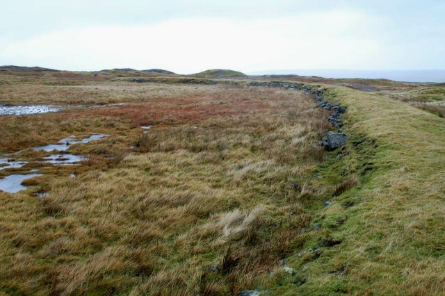The remains of a reservoir on the top of the moor above the Hungry Hushes