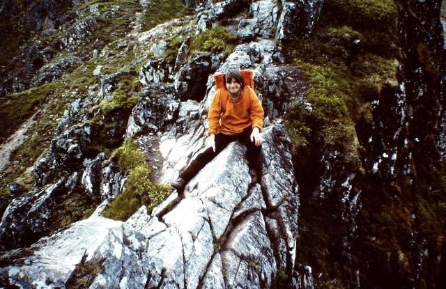 Paul astride the Aonach Eagach