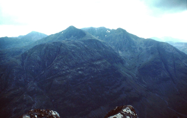 Bidean nam Bian on the southern side of Glencoe