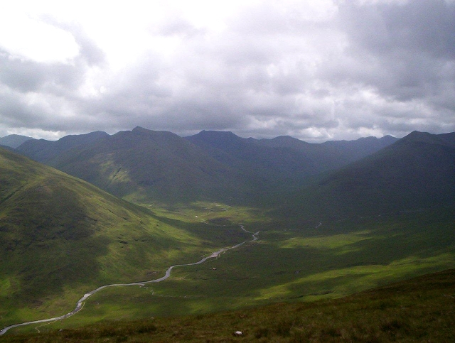 Ciste Dhubh, to the left of the picture, taken across Glen Affric from An Socach