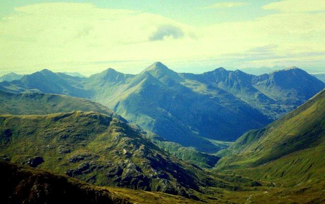 Looking west towards the Five Sisters of Kintail