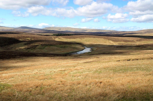 The headwaters of the River Tees. The mountain in the background is Cross Fell, which at 2,930ft (893m) is the highest peak in the Pennines and the highest peak in England outside the Lake District