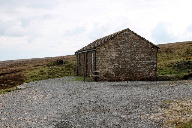 This is a pleasant retreat for the grouse-shooters. Do you know what the only difference between a grouse-shooters' hut and a mountain bothy is? The answer's in the next picture