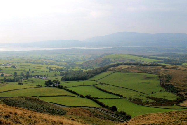 Black Combe rises through the haze on the far side of the Duddon estuary