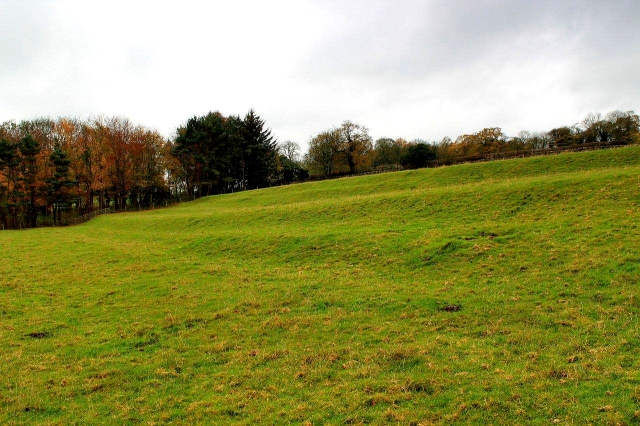 These terraces in the fields beneath the village of Middleton Tyas are the remnants of a mediaeval farming system