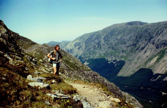 Taking a breather on the High Level Route, with Ennerdale and High Stile in the background