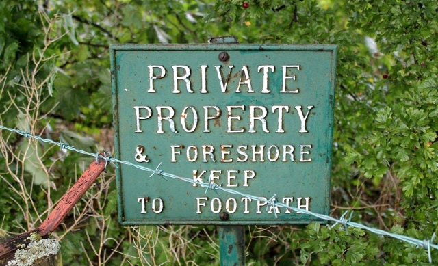 Where's this then? Sandringham? Balmoral? Some quiet corner of a stately home where members of the public are not welcome? No, this sign is situated on the shores of Ullswater in the heart of the Lake District National Park
